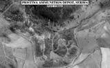 Dépot de munition de Pristina en Serbie après le passage des Super-Etendard. (©NATO)