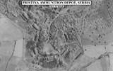 Dépot de munition de Pristina en Serbie avant le passage des Super-Etendard. (©NATO)
